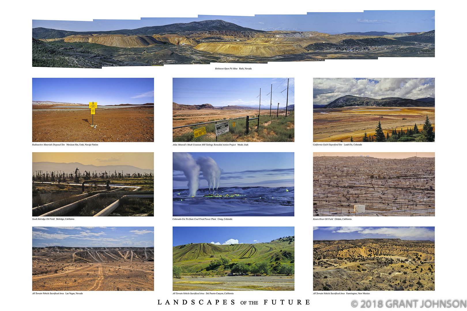 When viewed from above, it is clear that the space we've allotted to the natural world is shrinking at an alarming rate. Urban sprawl, infrastructure, destructive entertainment and extractive industries dominate ever more of our landscape as our consumptive appetites increase because there are, simply, more of us. Mining, drilling and logging are some of the most destructive operations because antiquated laws have enabled some companies to despoil the environment and leave their waste products unabated. As the local population weighs the jobs created against the toxic legacy of these operations, the appeal is eventually made for clean up which should have been part of the cost of extraction but is often paid by the public. This rewards destructive practices and sends the message that it's okay to do the wrong thing because the public will bail you out.